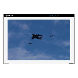 """C17A Globemaster And BAE125 Decal For 17"""" Laptop"""