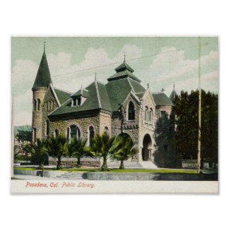 c1910 Public Library Pasadena CA Print