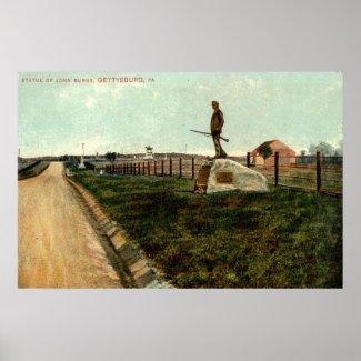 c1915 Statue of John Burns GETTYSBURG PA print