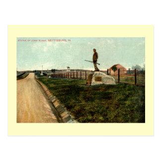 c1915 Statue of John Burns GETTYSBURG PENNSYLVANIA Postcard