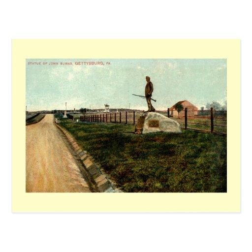 c1915 Statue of John Burns GETTYSBURG PENNSYLVANIA Post Cards