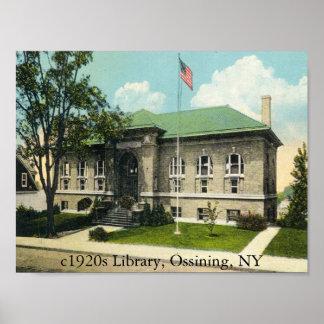 c1920s Library, Ossining, NY Poster