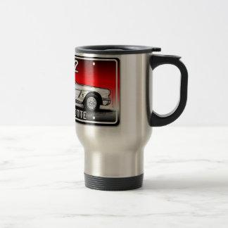 C1 1962 Corvette License Plate Art-Red Background Travel Mug