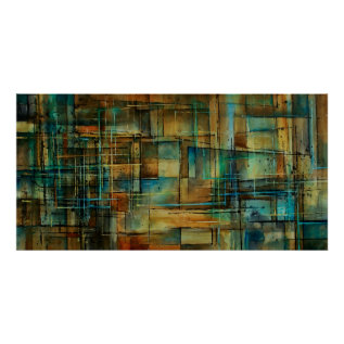 C209 Abstract Design Poster at Zazzle