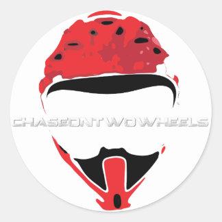 C2W Logo [White Text] Classic Round Sticker