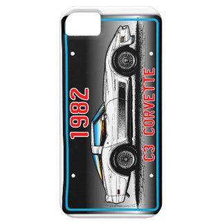 C3 1982 Corvette License Plate Art-Gray Background iPhone SE/5/5s Case