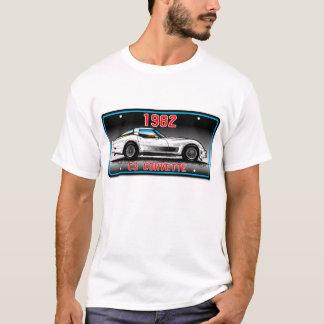 C3 1982 Corvette License Plate Art-Gray Background T-Shirt