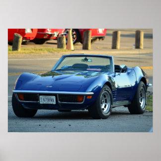 C3 Corvette convertible Poster