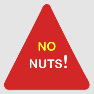 c3 - Food Alert ~ NO NUTS. Triangle Sticker