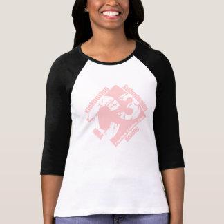 C3 Ladies 3/4 Black Sleeve with Pink C3 Logo Shirt