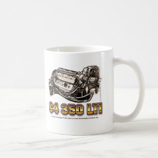 C4 350 LT1 Corvette Engine Coffee Mugs