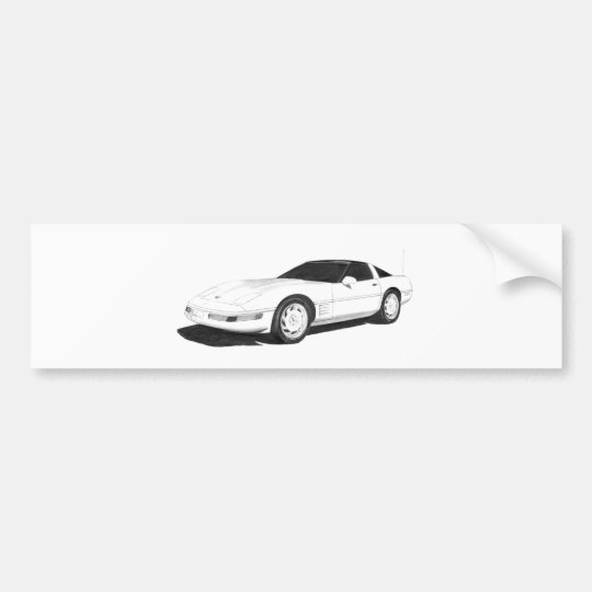 C4 Corvette Bumper Sticker