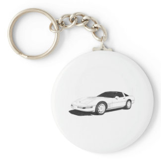 C4 Corvette Keychain
