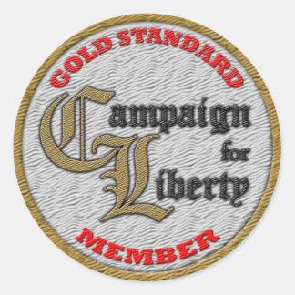 C4L Gold Standard Member Sticker! Classic Round Sticker