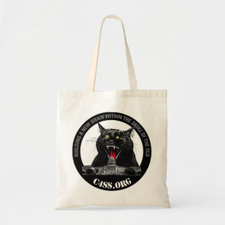 C4SS Lazer cat for carrying your stuff Budget Tote Bag