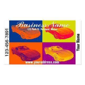 C5 Corvette convertible Muscle Car Pop Art Business Card