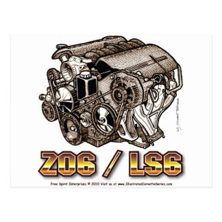 C5 Z06 LS6 POSTCARD
