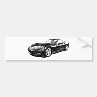 C6 corvette car bumper sticker