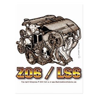 C6 Z06 LS6 POSTCARD