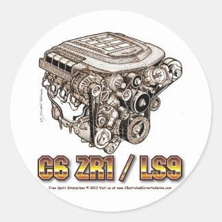 C6 ZR1/LS9 ROUND STICKERS