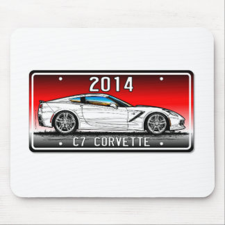 C7 2014 Corvette Coupe by K. Scott Teeters Red Mouse Pads