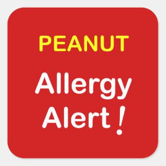 c7 - Alarma de la alergia - CACAHUETES Pegatina Cuadrada