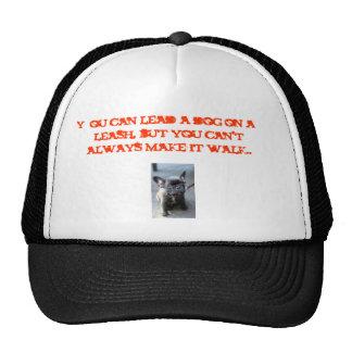 c7f105dbda83b6de, You can lead a dog on a leash... Trucker Hat