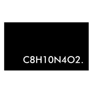 C8H10N4O2. caffeine structure Double-Sided Standard Business Cards (Pack Of 100)