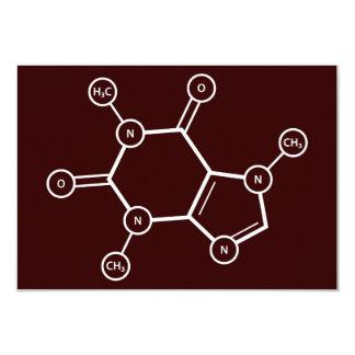 C8H10N4O2 molecular structure 3.5x5 Paper Invitation Card