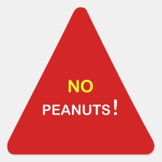 c9 - Food Alert ~ NO PEANUTS. Triangle Sticker