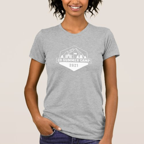 C9 Summer Camp Logo Heather Gray Womens T_Shirt