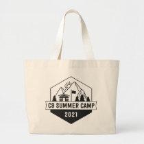 C9 Summer Camp Logo Large Tote Bag