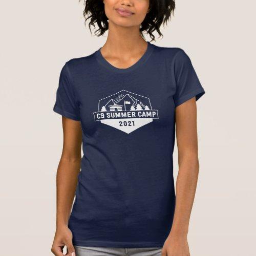 C9 Summer Camp Logo Navy Womens T_Shirt