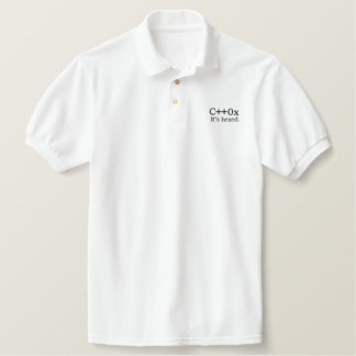 C++0x: It's hexed. Embroidered Polo Shirt