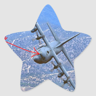 C-130 BAJO PEGATINA EN FORMA DE ESTRELLA