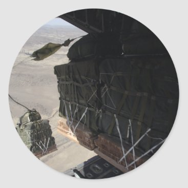 C-130 COMBAT AIRDROP AFGHANISTAN CLASSIC ROUND STICKER