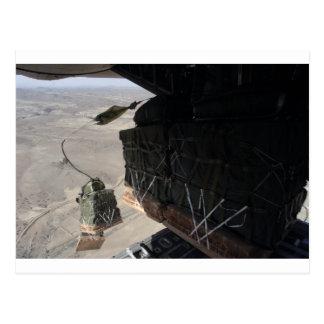 C-130 COMBAT AIRDROP AFGHANISTAN POSTCARD