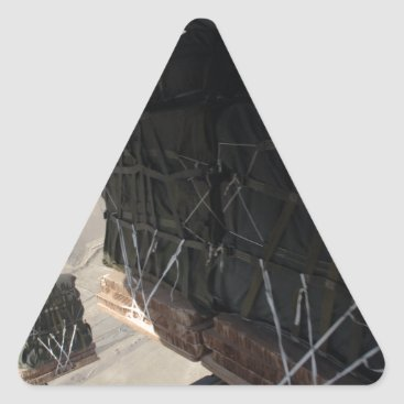 C-130 COMBAT AIRDROP AFGHANISTAN TRIANGLE STICKER