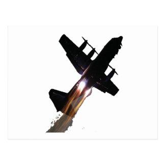 C-130 CON JATOS ENCENDIDO POSTAL