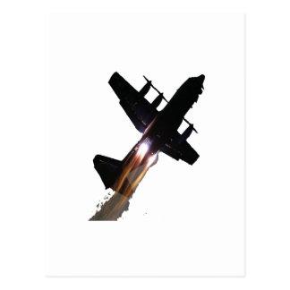 C-130 CON JATOS ENCENDIDO POSTALES