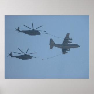 C-130 HERCULES CH-53E SUPER STALLION POSTER
