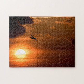 C-130 Hercules in the Evening Jigsaw Puzzle