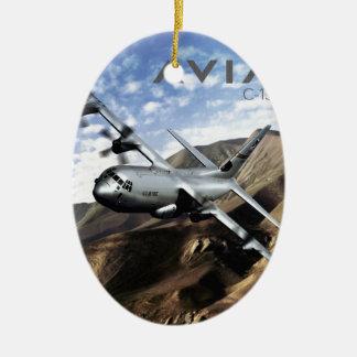 C-130 HERCULES Military Airplane Ceramic Ornament