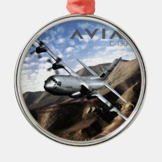 C-130 HERCULES Military Airplane Metal Ornament