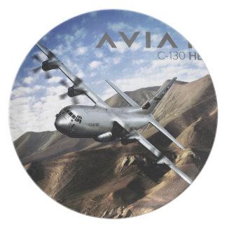 C-130 HERCULES Military Airplane Dinner Plates