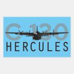 C-130 Hércules Pegatina Rectangular