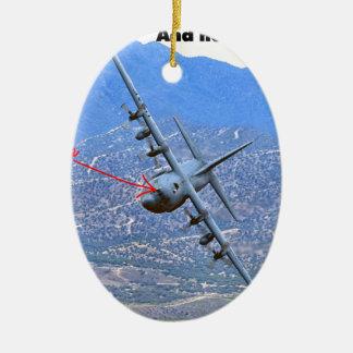 C-130 LOW LEVEL CERAMIC ORNAMENT