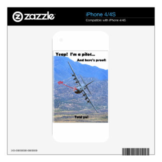 C-130 LOW LEVEL DECAL FOR iPhone 4