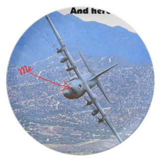 C-130 LOW LEVEL DINNER PLATE