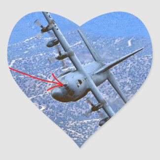 C-130 LOW LEVEL HEART STICKER